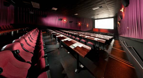 Alamo Drafthouse offers craft beer, great food, and movies for a casual, fun first date.