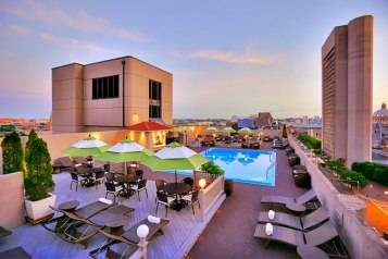 Rooftop Pool at The Colonnade Hotel