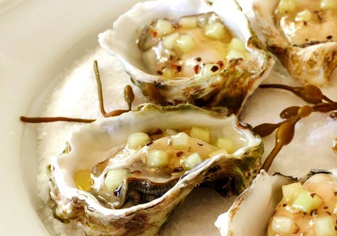 Kumamoto Oysters: with cucumber mignonette