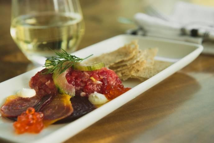Beet Cured Salmon Tartare