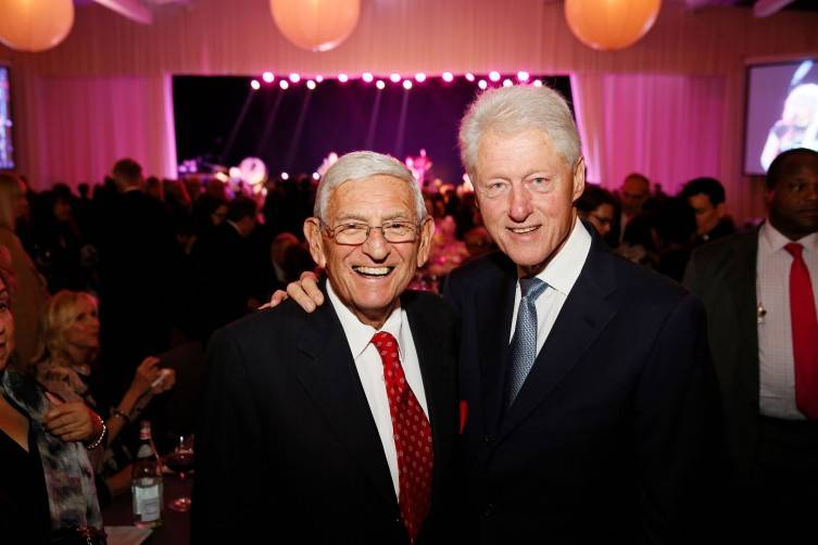 Eli Broad and Bill Clinton