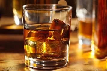 DISH bourbon on the rocks