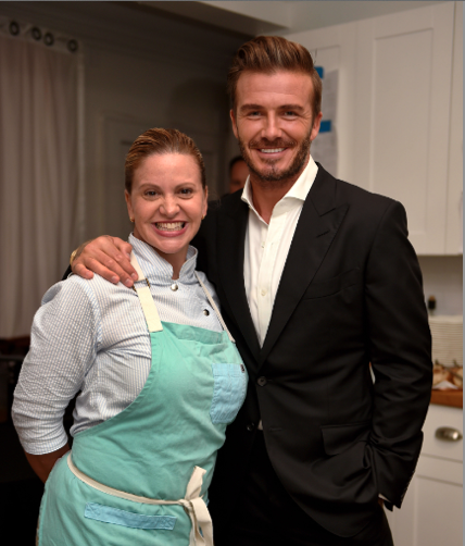 David Beckham and Michelle Bernstein