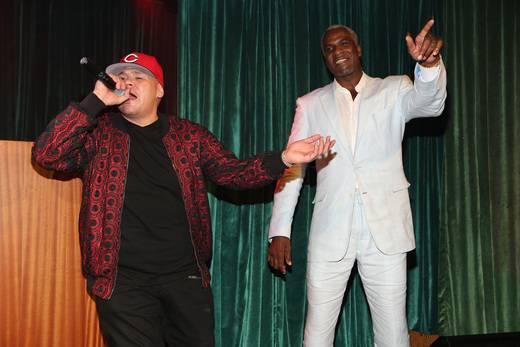 Fat Joe and Charles Oakley