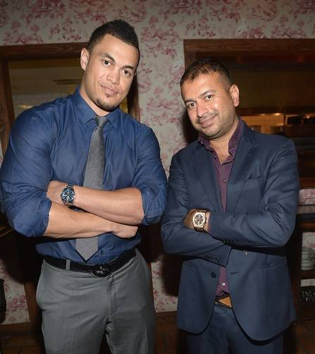 Giancarlo Stanton and Kamal Hotchandani