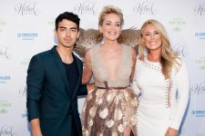 Joe Jonas, Sharon Stone and Victoria Noyes