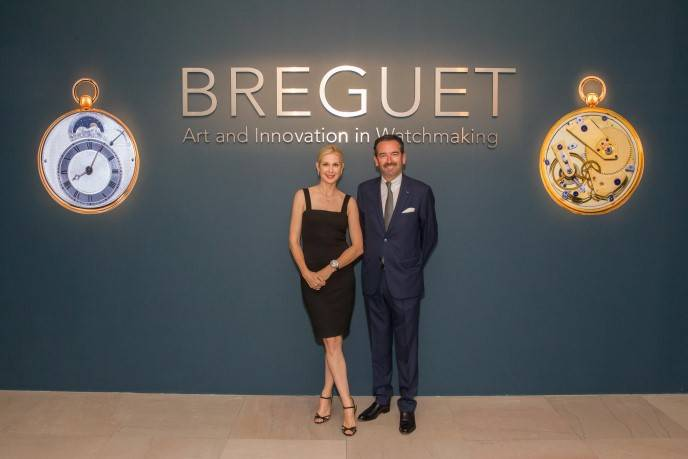 Kelly Rutherford and Emmanuel Breguet