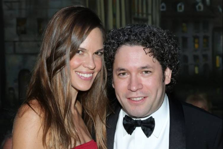 Hilary Swank and Gustavo Dudamel