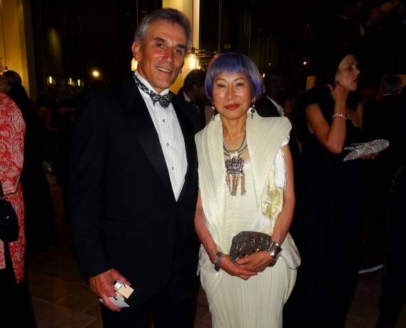 Lou DeMattei and Amy Tan