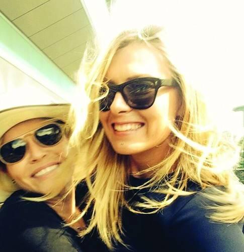 Maria Sharapova and Chelsea Handler