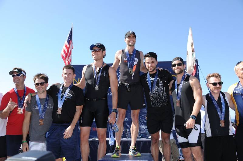 Winners of the Nautica Malibu Triathlon at Zuma Beach