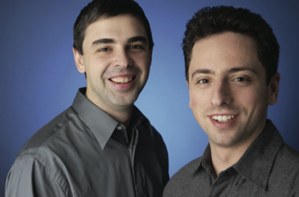 LARRY PAGE AND SERGEY BRIN PHOTO: GOOGLE