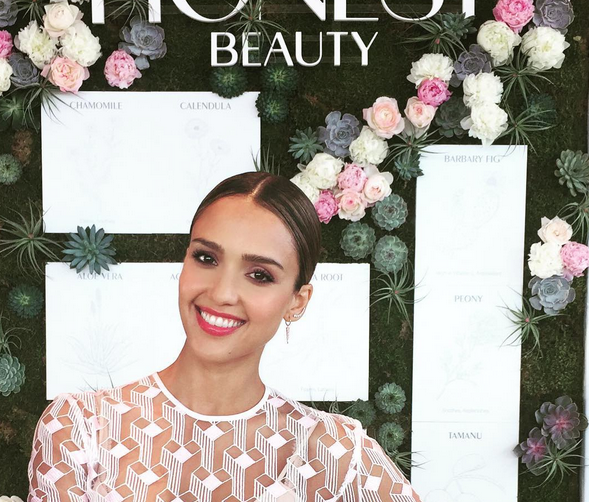 Jessica Alba at the launch of Honest Beauty