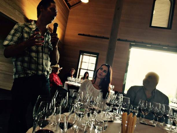Steve Leveque at Vertical Tasting
