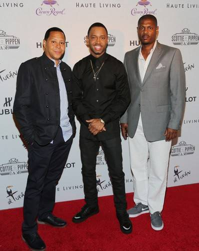 Terrence J (center) and guests