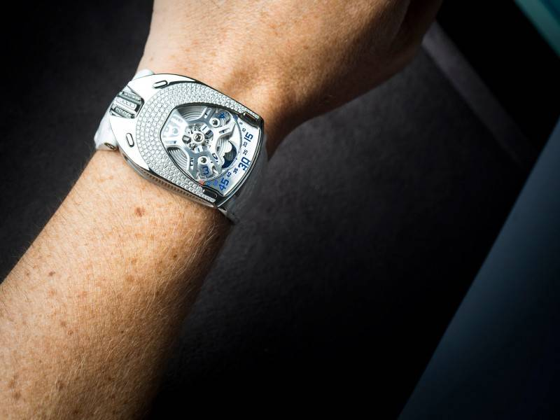 Urwerk-UR-106-Lotus-Ladies-White-Watch-2015-Wrist