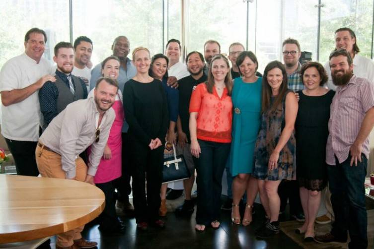 Chefs, park management, and supporters attended the kickoff at Savor Gastropub in July