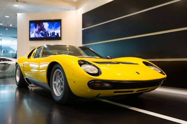 The Miura model was produced by Italian automaker Lamborghini between 1966 and 1973.