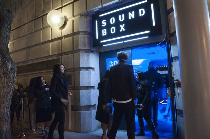 The San Francisco Symphony opened SoundBox on Saturday night, December 13, 2014.