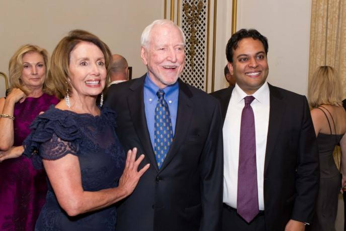 Nancy Pelosi, James Hormel and Kaushik Roy