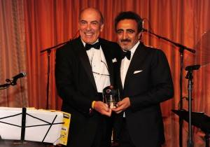 Muhtar Kent, Hamdi Ulukaya at the 2015 American Turkish Society Gala. ©Patrick McMullan== photo - Owen Hoffmann/PatrickMcMullan.com== ==