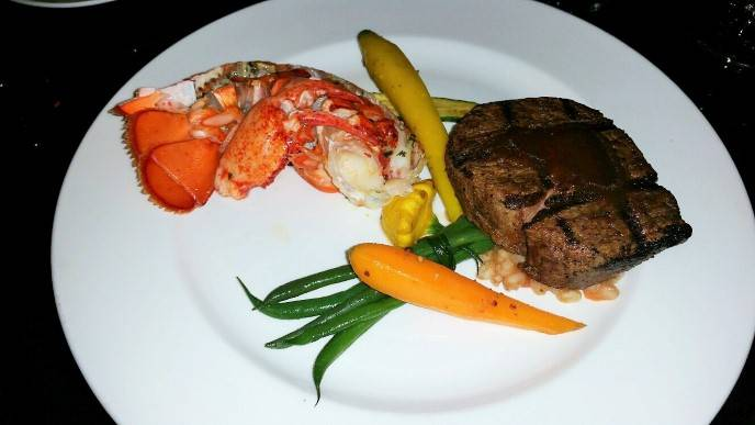 Maine lobster and grilled filet of beef