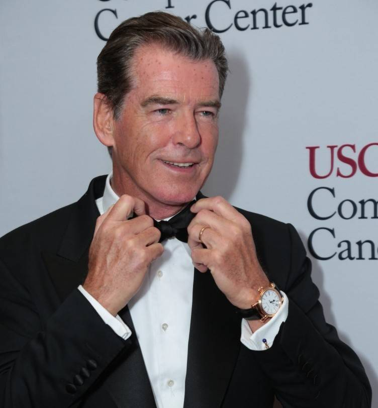Pierce Brosnan attends the USC Norris Comprehensive Cancer Center Gala at the Beverly Wilshire Hotel
