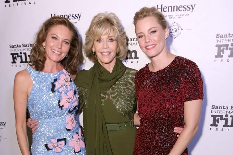 Diane Lane, Jane Fonda and Elizabeth Banks attend the Santa Barbara International Film Festival's 10th Annual Kirk Douglas Awards Honoring Jane Fonda at Bacara Resort and Spa on October 3, 2015 in Santa Barbara, Californi
