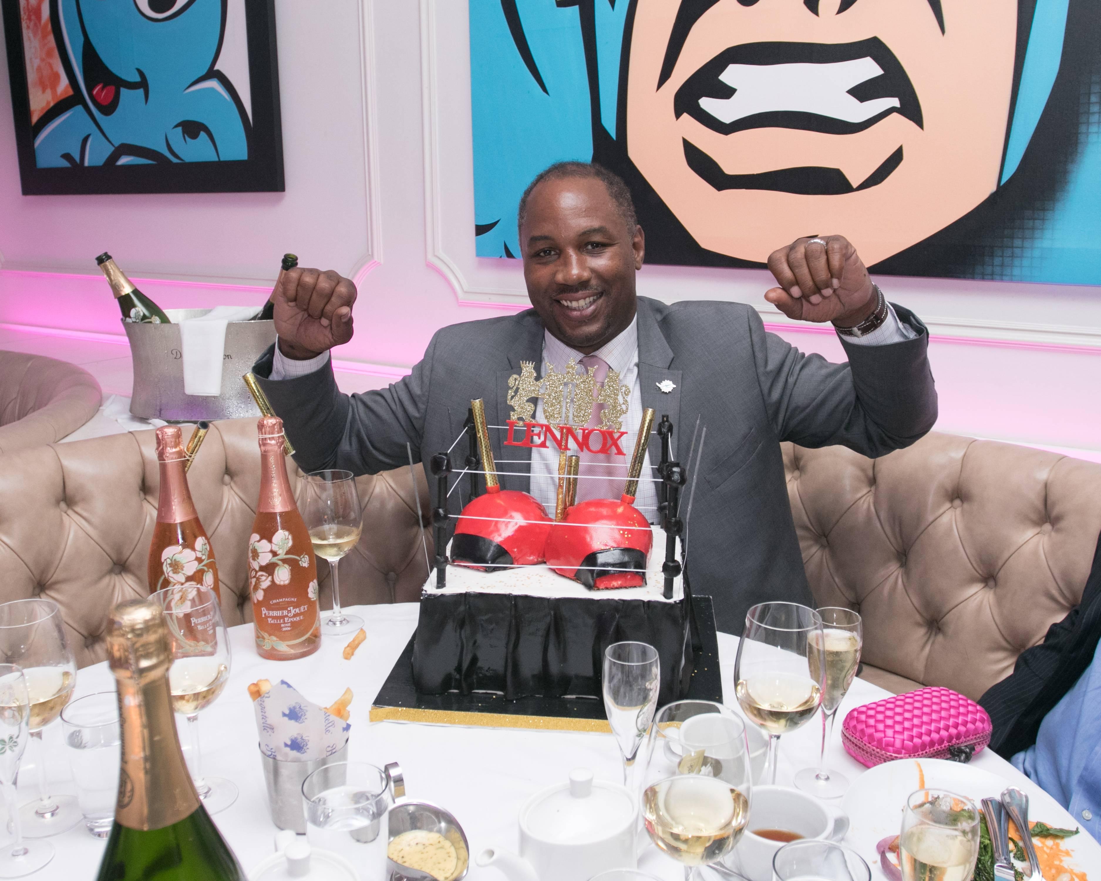 Miami Beach Fl October 15 Lennox Lewis Celebrates His Haute 50th Birthday Celebration