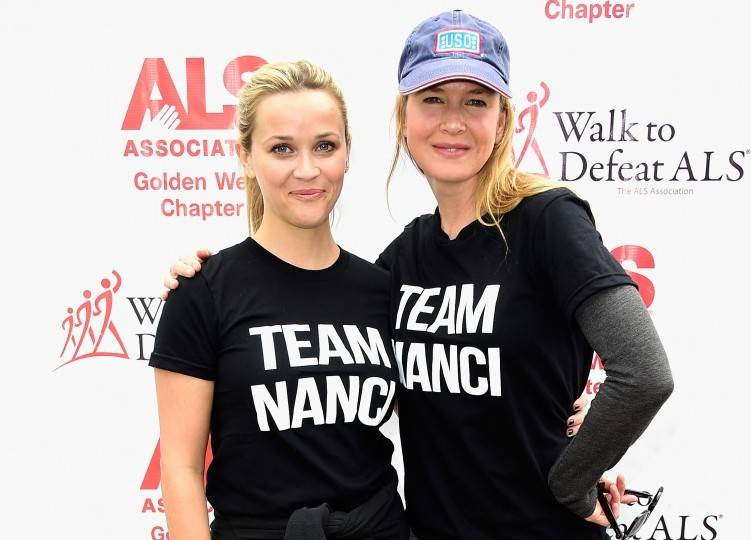 "Reese Witherspoon and Renée Zellweger attend the Nanci Ryder's ""Team Nanci"" at The 13th Annual LA County Walk To Defeat ALS at Exposition Park"