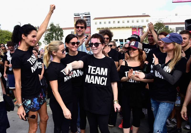 "Angie Harmon, Reese Witherspoon, Courteney Cox, Nanci Ryder and Renée Zellweger attend the Nanci Ryder's ""Team Nanci"" at The 13th Annual LA County Walk To Defeat ALS at Exposition Park"