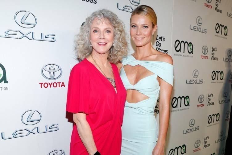 Blythe Danner (L) and honoree Gwyneth Paltrow attend the 25th annual EMA Awards