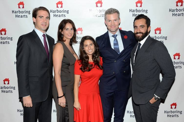 Prince Philippos of Greece and Denmark, Maya Foldes, Michelle Javian, Ryan Serhant, Adam Foldes- photo by Andrew Werner, AHW_7178