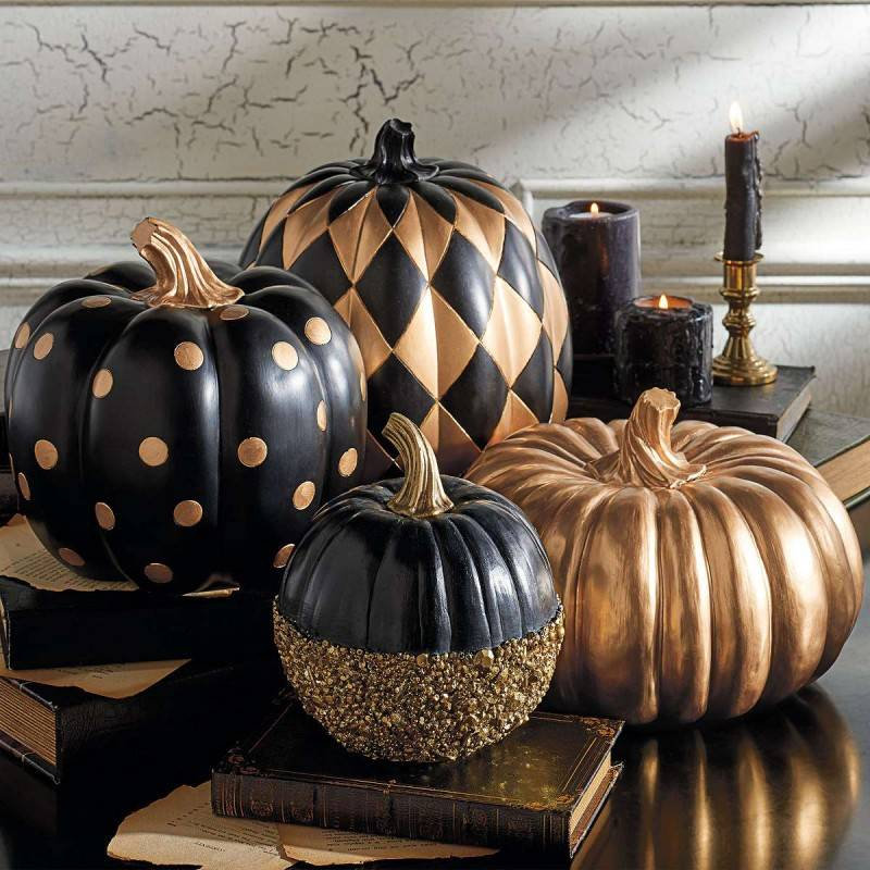 Black and Gold Pumpkins