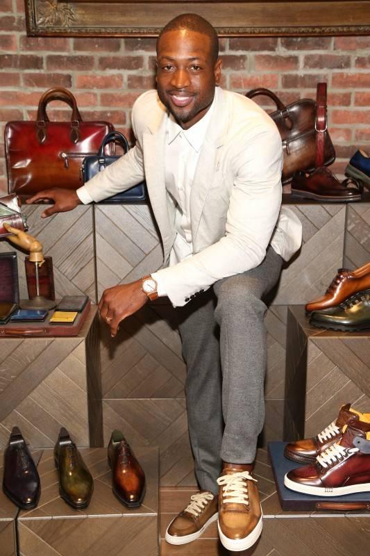 Dwyane Wade with Berluti shoes