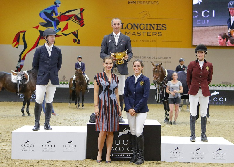 Gucci Gold Cup Prize Giving Ceremony McLain Ward, Patrice Delaveau, Edwina Tops-Alexander, Fernanda Ameeuw and Jessica Springsteen