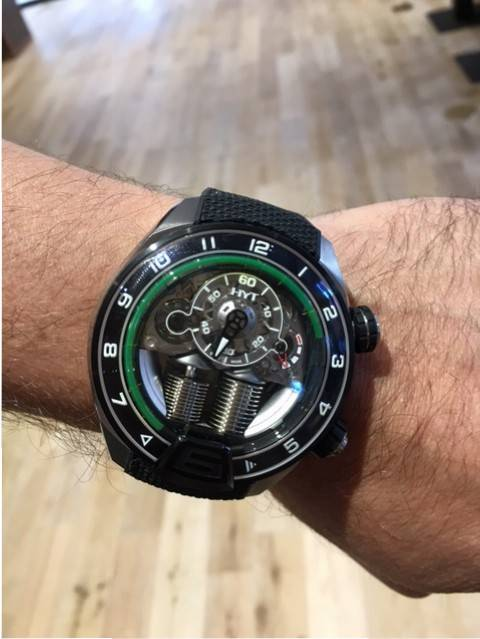 HYT on the wrist of CEO Vincent Perriard