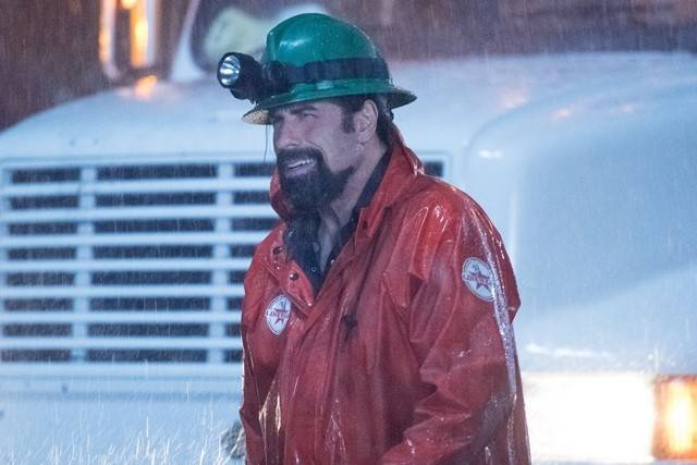 "John Travolta in his film, ""Life on the Line."""