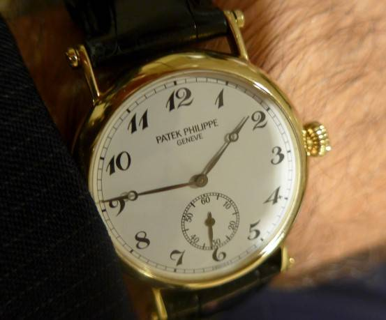Larry Pettinelli's Patek that he received in 1989 when Patek Philippe celebrated its150th anniversary