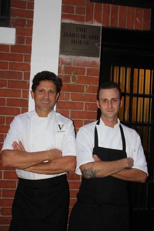 P1. Chef Giovanni Rocchio and Chef de Cuisine Jimmy Everett