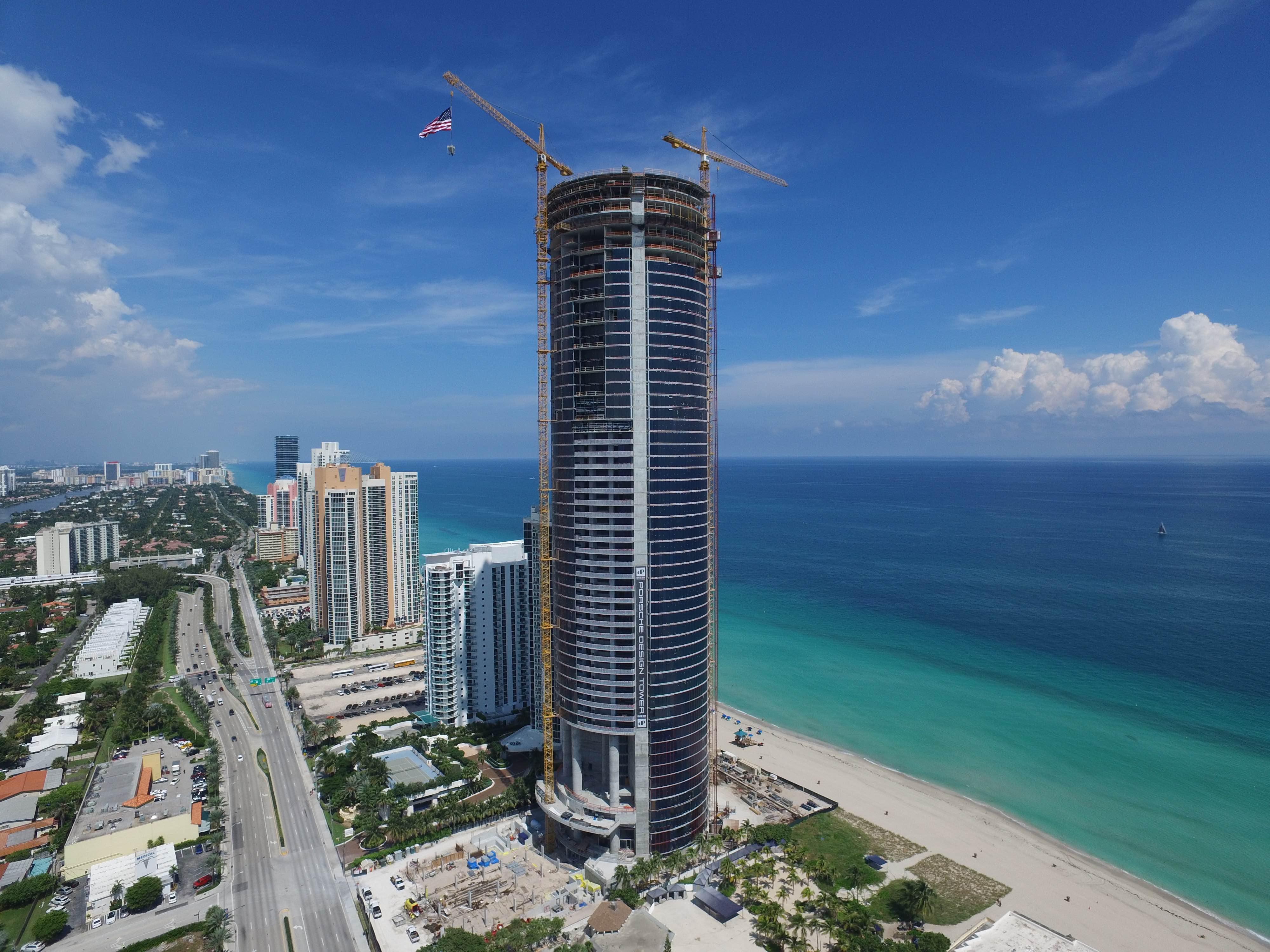 Porsche Design Tower >> Mia Porsche Design Tower Reaches Maximum Height