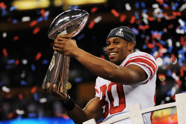 Victor Cruz at Super Bowl XLVI. Photo from Associated Press