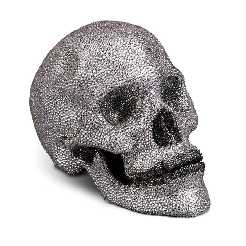 L'Objet Crystal Encrusted Skull White