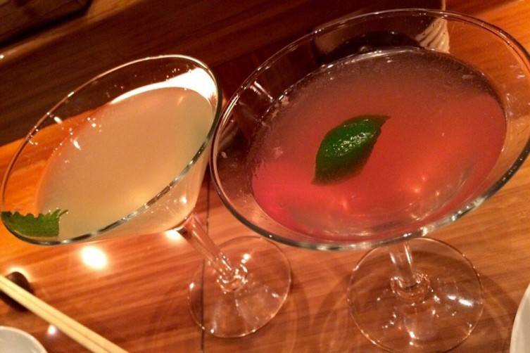 Sweet Saketini and Ginger Dragon at BONDST