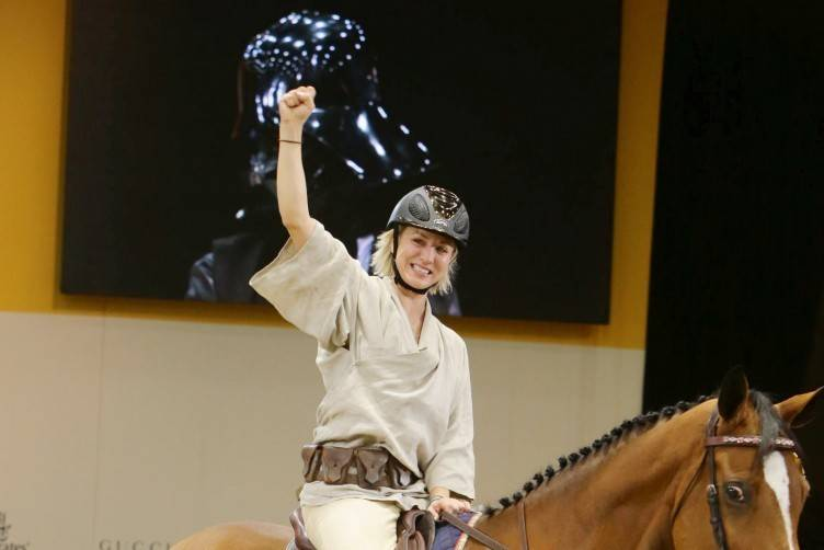 Kaley Cuoco rides in the Charity Pro-Am Style and Competition at the Longines Masters, Day 3