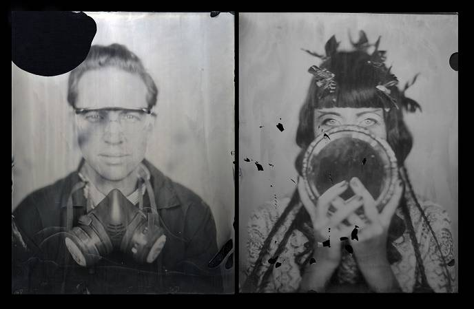 Walter Hugo & Zoniel, Self Portrait, glass plate ambrotype, 2010 © Art Silicon Valley San Francisco