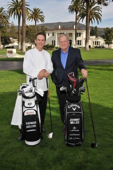 Thomas Keller and Johnny Miller at Silverado Resort and Spa