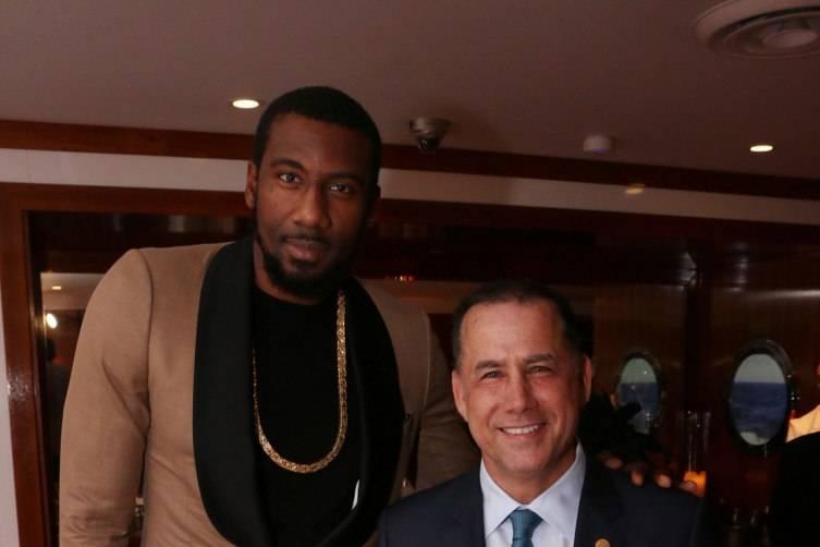 Amar'e & Mayor Levine