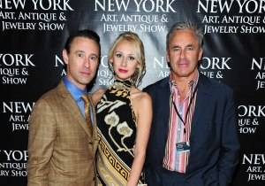 Scott Diament, Matilda Kristell, Campion Platt at the New York Art, Antique & Jewelry Show Opening Night Preview Party