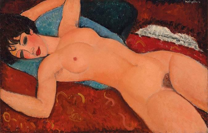 "Amedeo Modigliani's ""Nu Couché"" via Christie's"